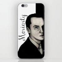 moriarty iPhone & iPod Skins featuring Moriarty by LiseRichardson