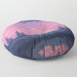 Mount Rainier Floor Pillow