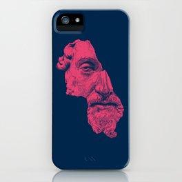 MARCUS AURELIUS ANTONINUS AUGUSTUS / prussian blue / vivid red iPhone Case