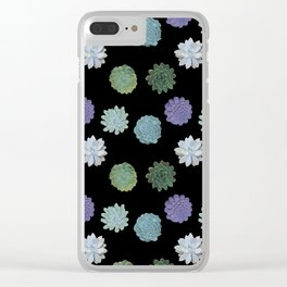 Succulent plant pattern Clear iPhone Case