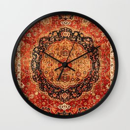 Seley 16th Century Antique Persian Carpet Wall Clock