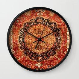 Seley 16th Century Antique Persian Carpet Print Wall Clock