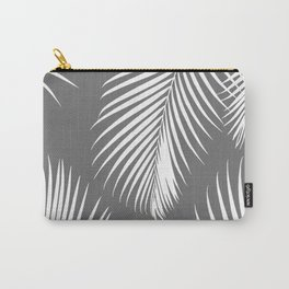Dark Gray Tropical Pattern Carry-All Pouch