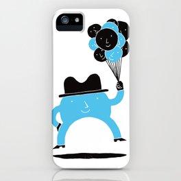 Blue-Boy Balloon iPhone Case