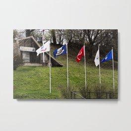 Hero Street Grotto & Flags Metal Print