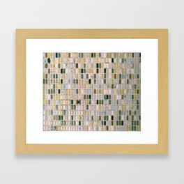 Vintage wall#retro#film#effect Framed Art Print