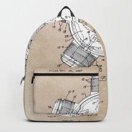 patent art Aldridge 1971 Radial engine Backpack