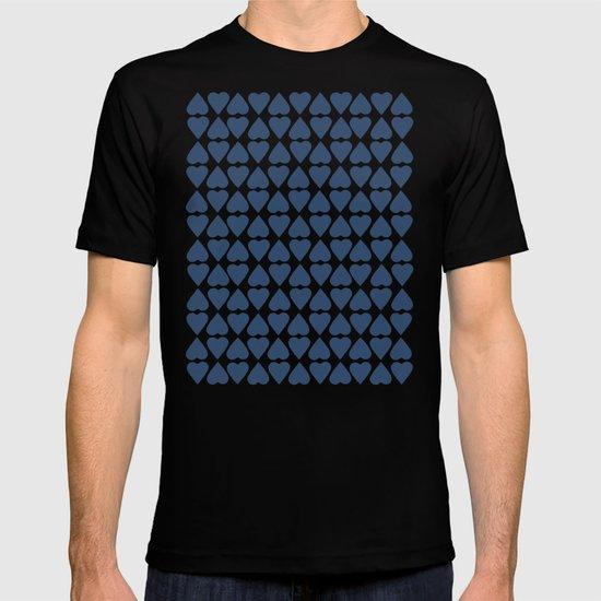 Diamond Hearts Repeat Navy T-shirt