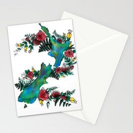 New Zealand Map Stationery Cards