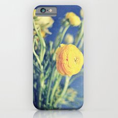 Ranunculus (on Blue) iPhone 6s Slim Case