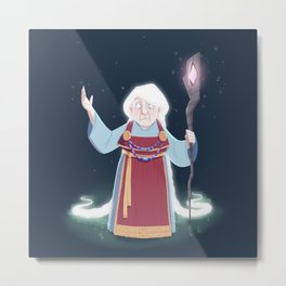 Völva - the viking sorceress Metal Print