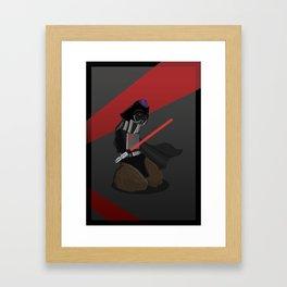 Darth Vader as a Penis Framed Art Print