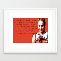 glee Framed Art Prints featuring glee 2 by Willow Summers