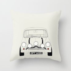 The Italian Job White Mini Cooper Throw Pillow