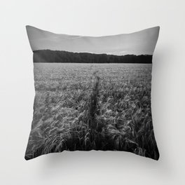 Field Track Throw Pillow