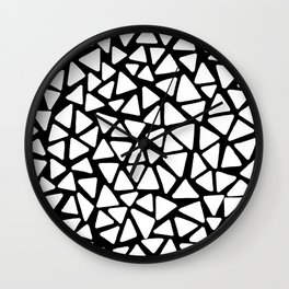 White Triangles Wall Clock