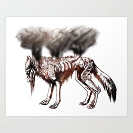Smoke and Metal Disciple - Rust Art Print