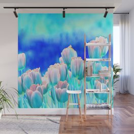 Tulips in Spring Abstract Wall Mural