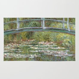 Bridge over a Pond of Water Lilies by Claude Monet Rug