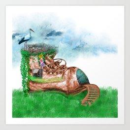 Shoe House Art Print