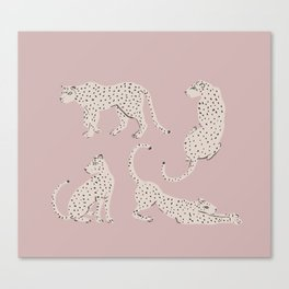 LEOPARD BLOCK PARTY - PINK Canvas Print