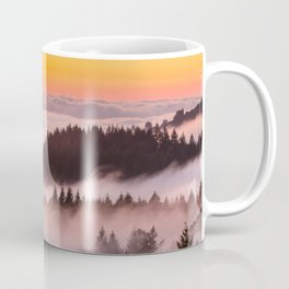 Bolinas Ridge Foggy Sunset Coffee Mug