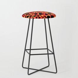 orange red circle pattern Bar Stool