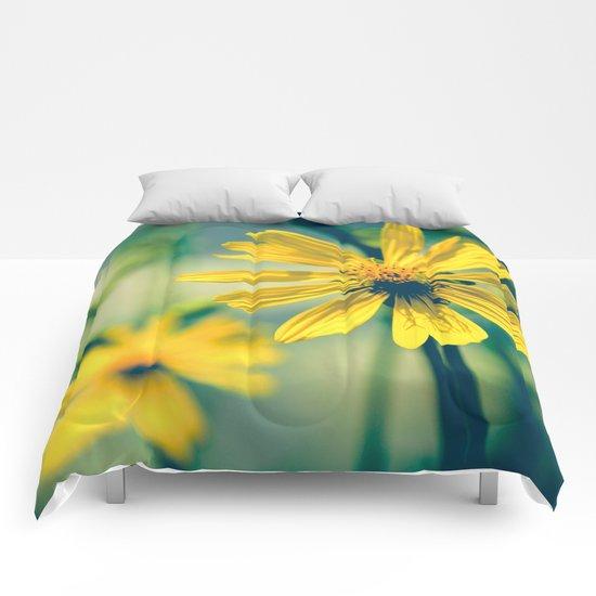 Yellow Sunshine Comforters
