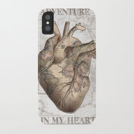 adventure heart-world map 1 iPhone Case