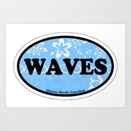 Waves - North Carolina. Art Print