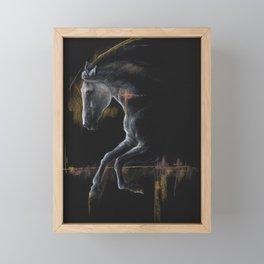 Andalusian horse art Framed Mini Art Print