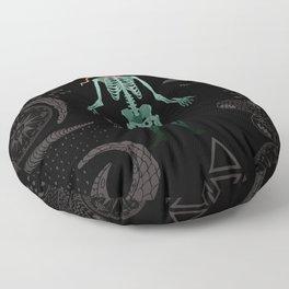 Eternal Celestial Sarcophagus Floor Pillow