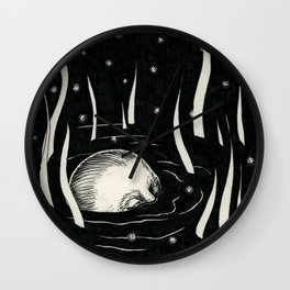 Sinking Ground.  Wall Clock