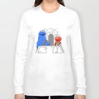 elmo Long Sleeve T-shirts featuring Han Elmo and the Wookie Monster by NathanJoyce