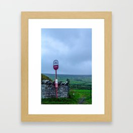 Irish Bus Stop - Ireland Framed Art Print