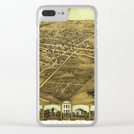 Aerial View of Pontiac, Oakland County, Michigan (1867) Clear iPhone Case
