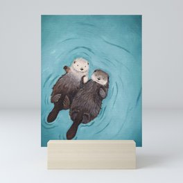 Otterly Romantic Sea Mini Art Print