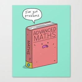 Maths Problem Canvas Print