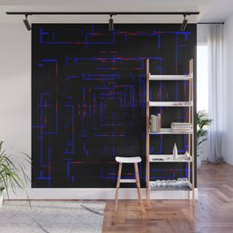 Banners with blue electronic cards. Wall Mural