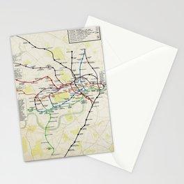 London Underground Map 1928 Stationery Cards