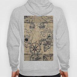 Old Nautical Map Hoody
