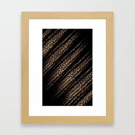 Black Leopard/Cheetah Print Framed Art Print