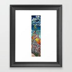 Kraken the Mountain Framed Art Print