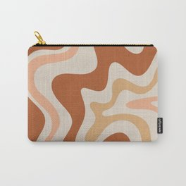 Liquid Swirl Abstract in Earth Tones Carry-All Pouch