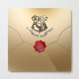 Hogwarts Envelope Metal Print