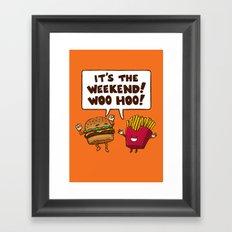 The Weekend Burger Framed Art Print