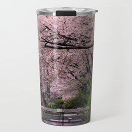 Sakura under the rain Travel Mug