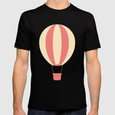 #84 Hot Air Balloon MEDIUM Black Mens Fitted Tee