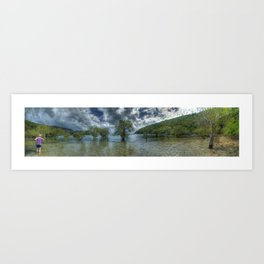 Butterfly Bay in colour Art Print