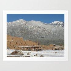 Taos Pueblo, NM Art Print